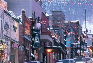 park city main street, home to great clubs, bars and nightlife